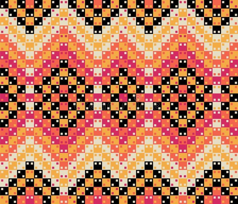 Teste padrão geométrico sem emenda colorido do vetor da ilusão ótica r ilustração stock
