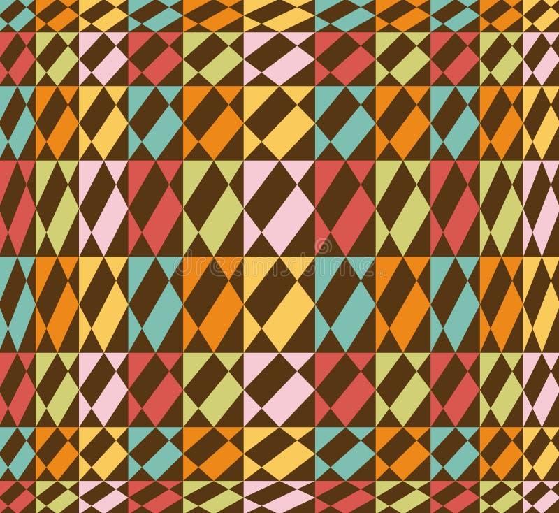 Teste padrão geométrico sem emenda colorido - vetor ilustração stock