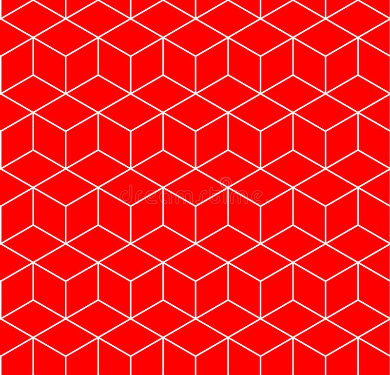 Teste padrão geométrico sem emenda do hexágono ilustração stock