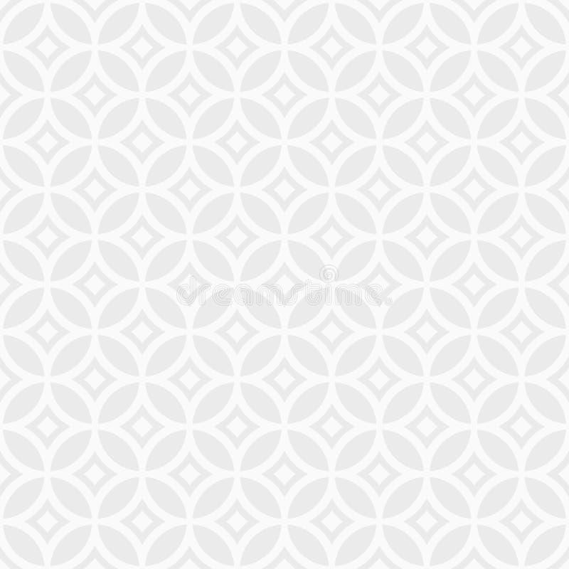 Teste padrão geométrico sem emenda do sumário no estilo chinês Ornamento telhado regular ilustração stock