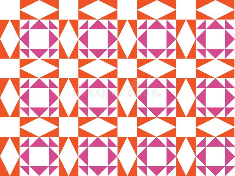 Teste padrão geométrico sem emenda do vetor ilustração do vetor