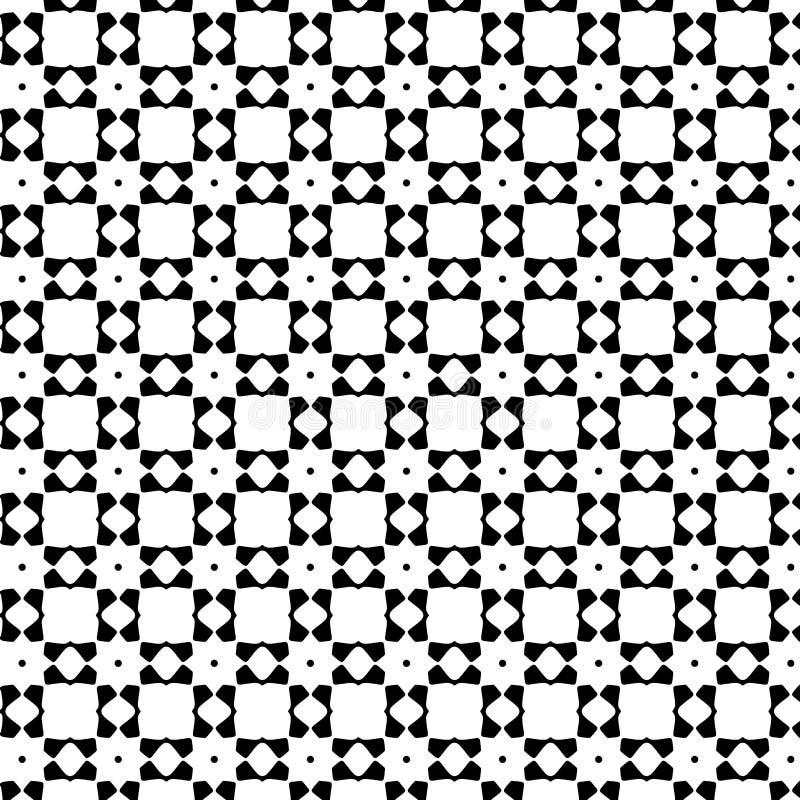 Teste padrão geométrico sem emenda do vetor abstrato preto e branco imagem de stock royalty free
