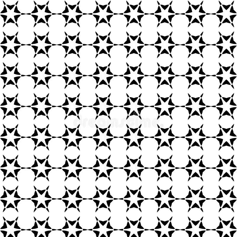 Teste padrão geométrico sem emenda do vetor abstrato preto e branco imagem de stock