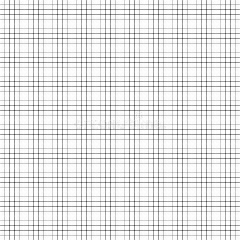Teste padrão geométrico sem emenda do vetor Textura da grade Fundo preto e branco do papel de gráfico Projeto de papel quadricula ilustração do vetor