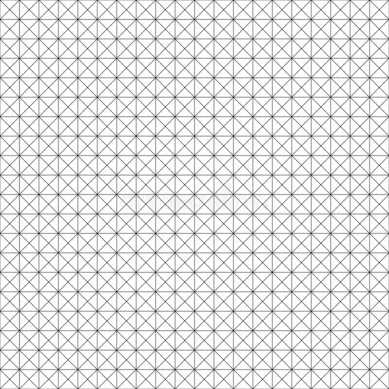 Teste padrão geométrico sem emenda do vetor Textura da grade Fundo preto e branco Projeto monocromático ilustração do vetor