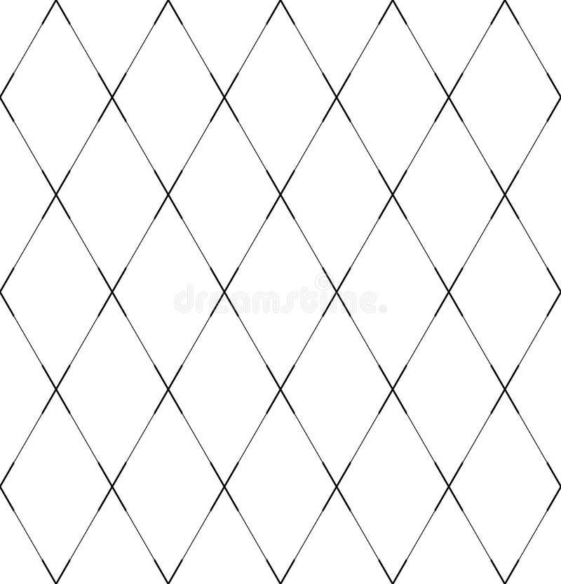 Teste padrão geométrico sem emenda dos diamantes Linhas cruzadas textura ilustração do vetor