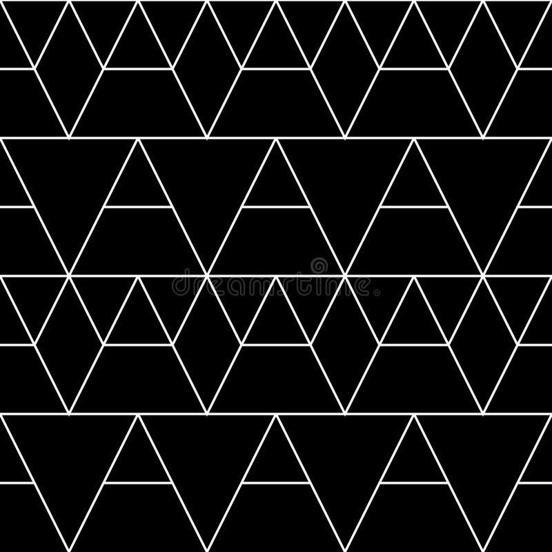 Teste padrão geométrico sem emenda Fundo clássico do vetor na cor preto e branco ilustração stock
