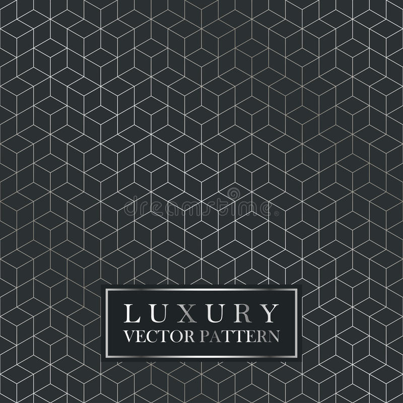 Teste padrão geométrico sem emenda luxuoso - textura do inclinação da grade ilustração stock