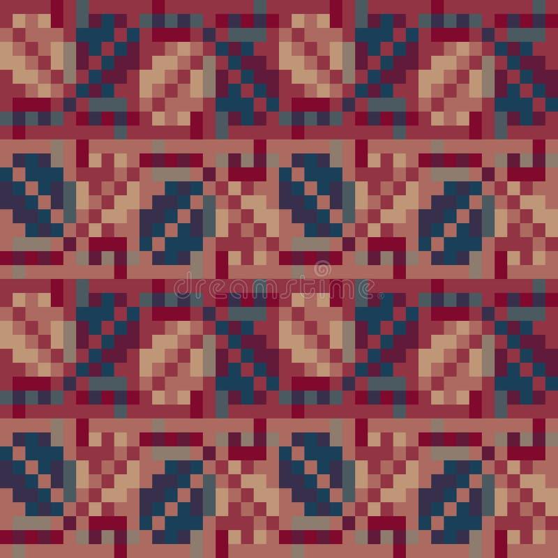 Teste padrão geométrico sem emenda no estilo do boho Motivo eslavo Motriz nacionais tradicionais dos povos eslavos foto de stock royalty free