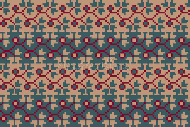 Teste padrão geométrico sem emenda no estilo do boho Motivo eslavo Motriz nacionais tradicionais dos povos eslavos foto de stock