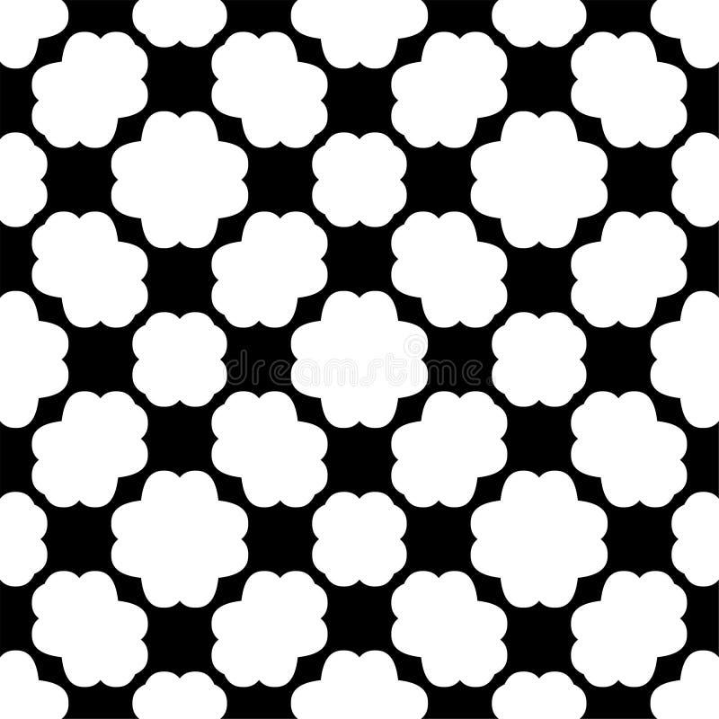 Teste padrão geométrico sem emenda preto e branco ilustração do vetor