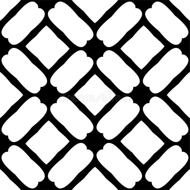 Teste padrão geométrico sem emenda preto e branco ilustração royalty free