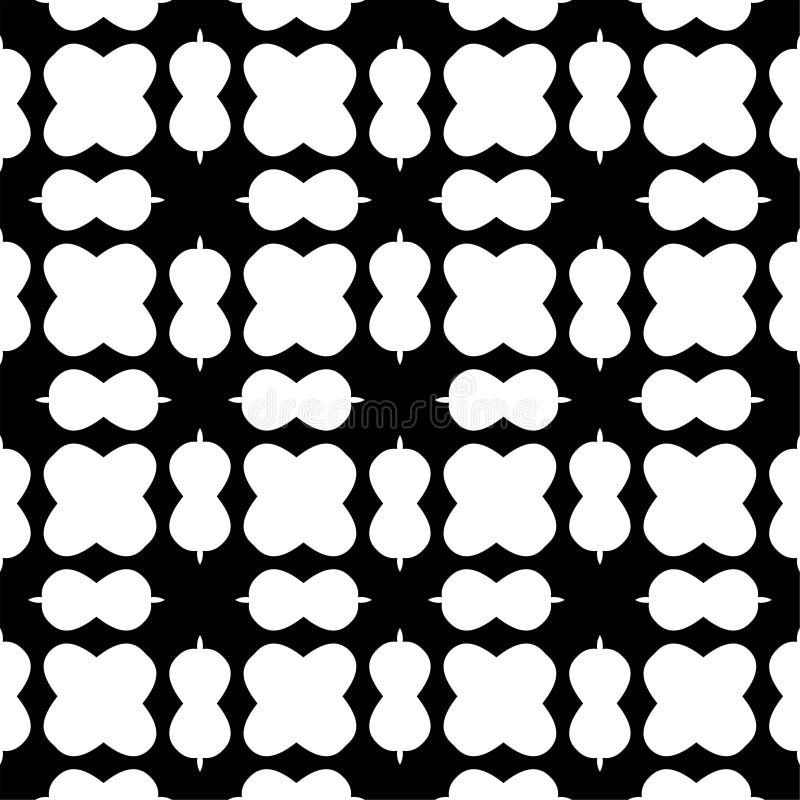 Teste padrão geométrico sem emenda preto e branco ilustração stock