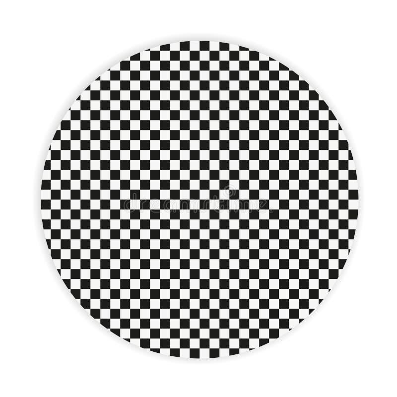 Teste padrão geométrico sem emenda preto e branco Textura/fundo repetíveis ilustração do vetor