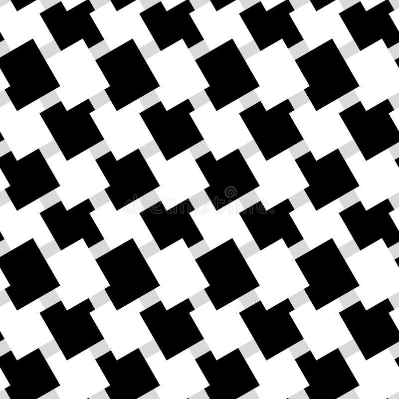 Teste padrão geométrico sem emenda preto e branco Textura repetível ilustração do vetor