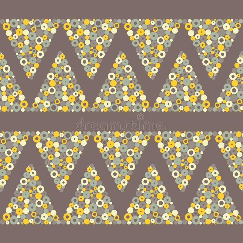 Teste padrão geométrico sem emenda Textura das gotas A textura dos triângulos dos pontos ilustração do vetor