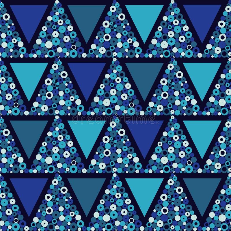 Teste padrão geométrico sem emenda Textura das gotas A textura dos triângulos dos pontos ilustração stock