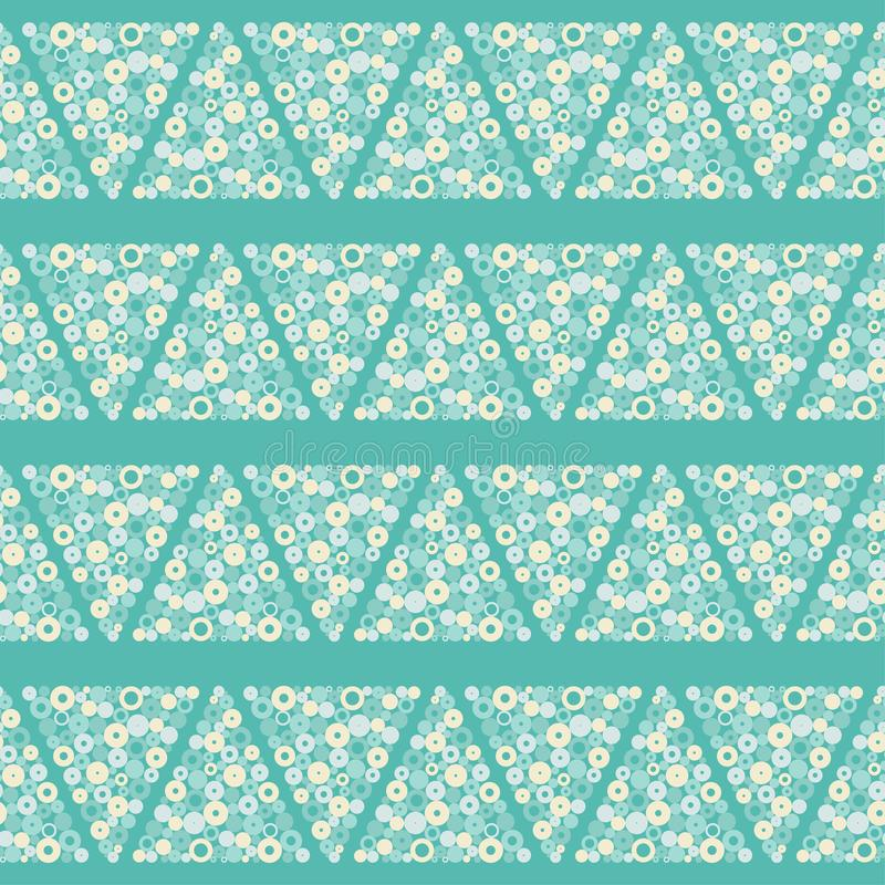 Teste padrão geométrico sem emenda Textura das gotas A textura dos triângulos dos pontos ilustração royalty free