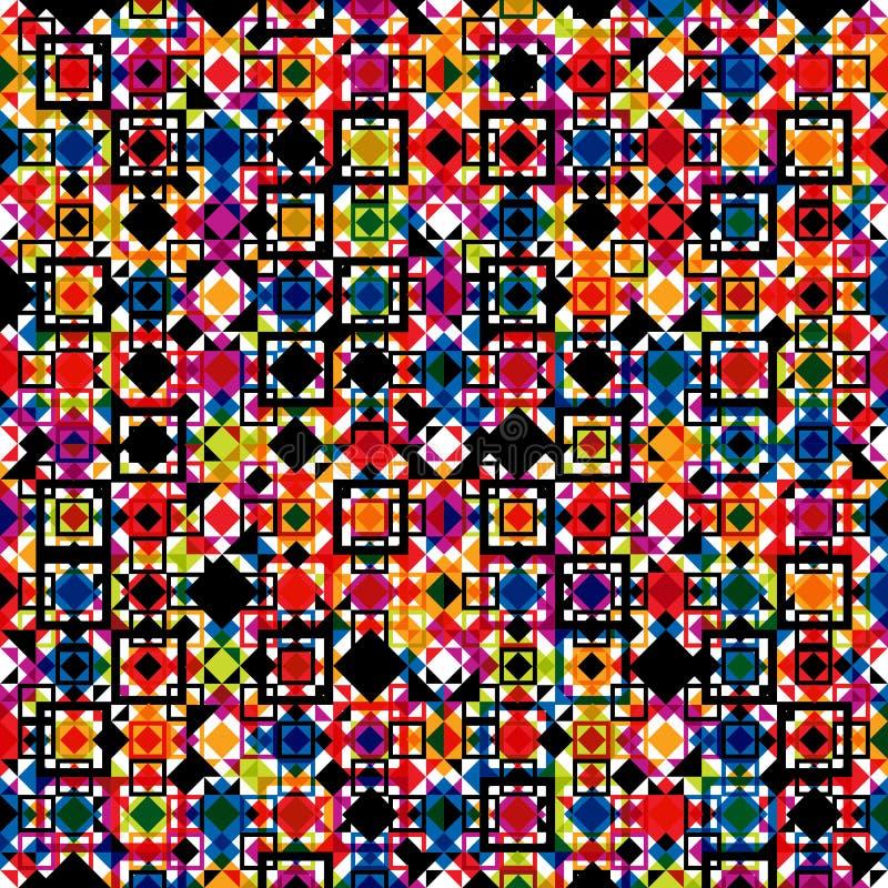 Teste padrão geométrico sem emenda, ver colorido ilustração do vetor
