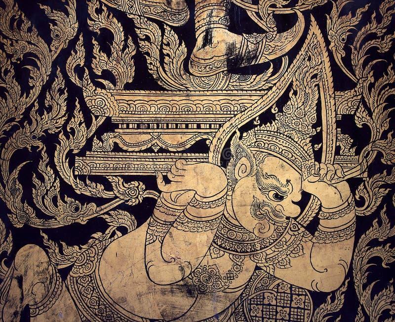 Teste padrão gigante tailandês tradicional imagens de stock