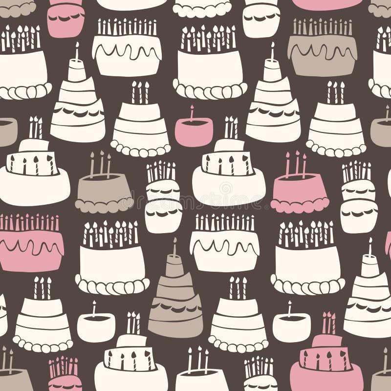 Teste padrão Gooey do aniversário ilustração royalty free