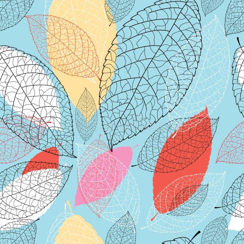 Teste padrão gráfico brilhante sem emenda das folhas ilustração royalty free