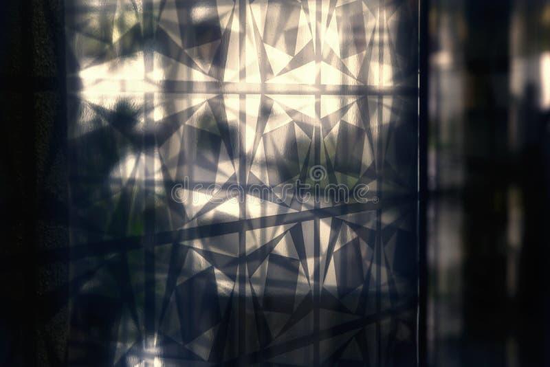 Teste padrão gráfico em um vidro fotografia de stock