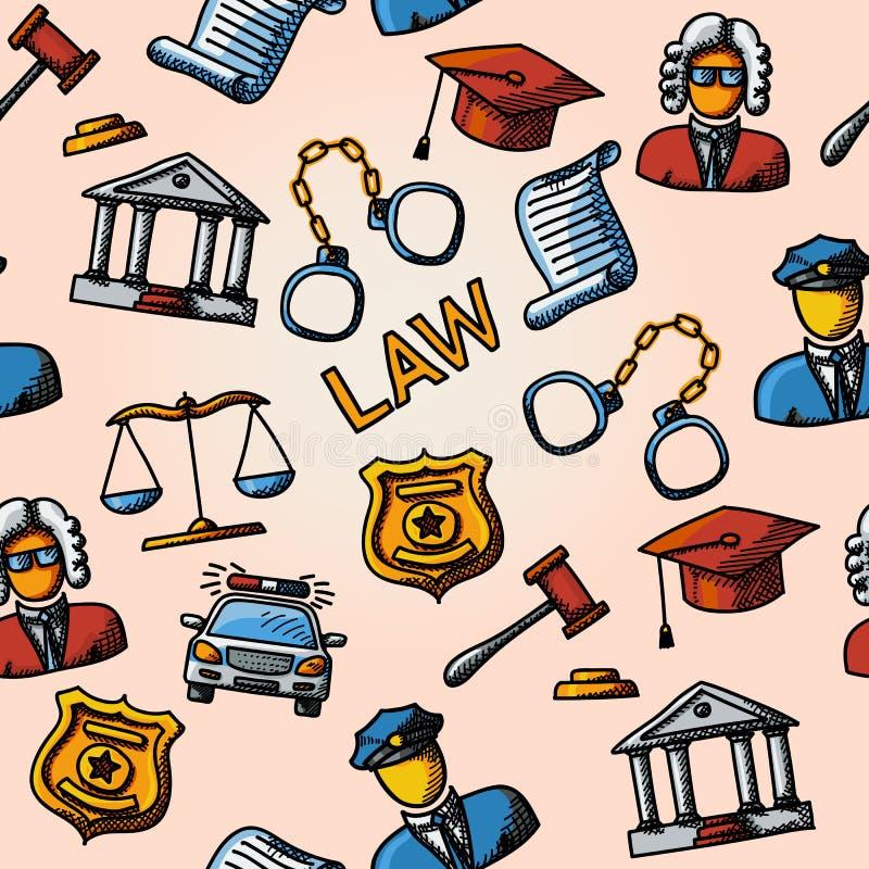 Teste padrão handdrawn da lei sem emenda com escalas ilustração do vetor