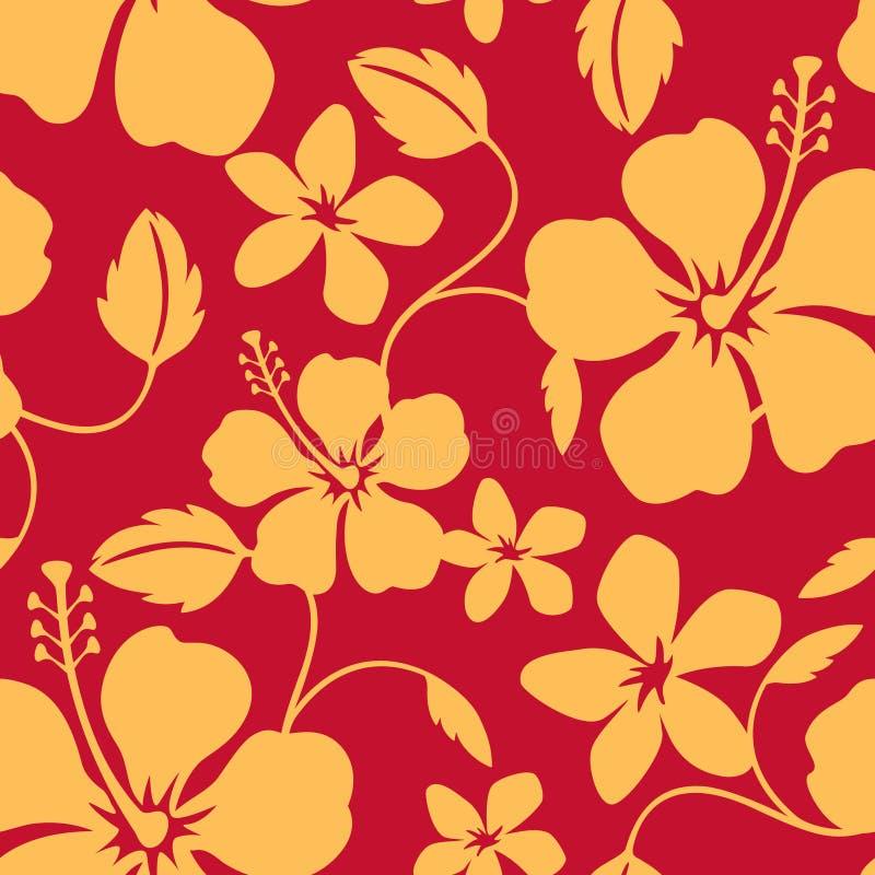Teste padrão havaiano sem emenda de Hula ilustração do vetor