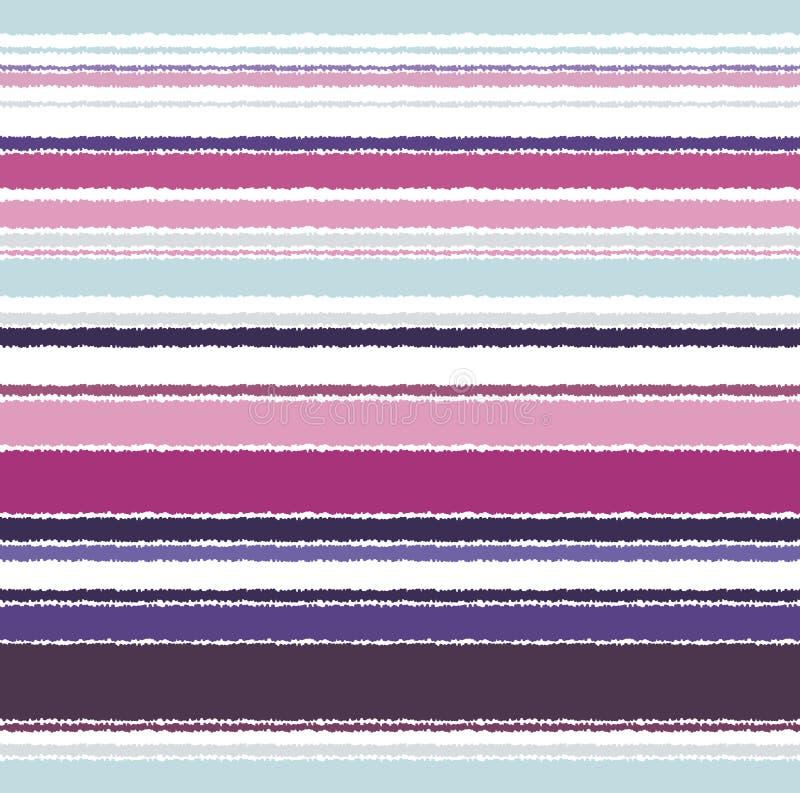 Teste padrão horizontal sem emenda das listras ilustração royalty free