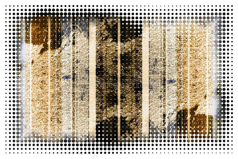Teste padrão ilustrado sumário do fundo do grunge ilustração stock