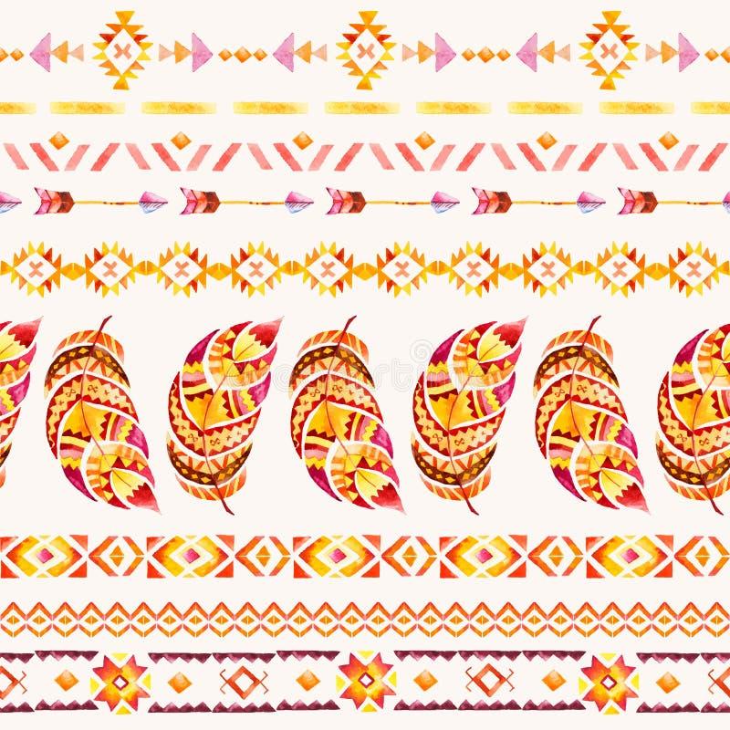 Teste padrão indiano étnico sem emenda ilustração royalty free