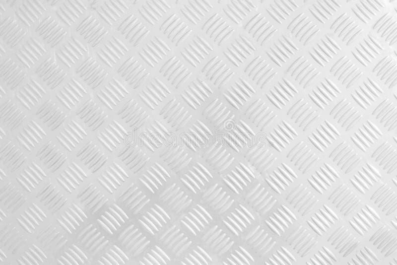teste padrão inoxidável do fundo stanless branco do metal do assoalho do sumário da placa do verificador foto de stock