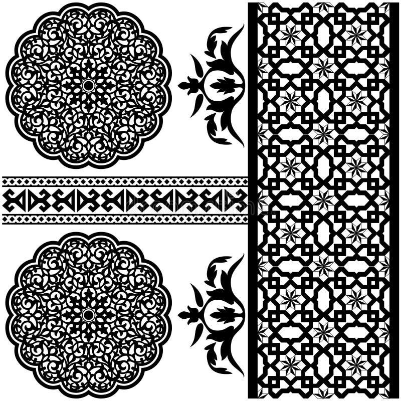 Teste padrão islâmico ilustração do vetor
