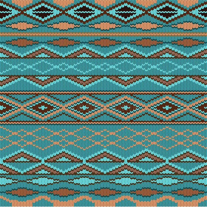 Teste padrão - lã feita malha ilustração stock