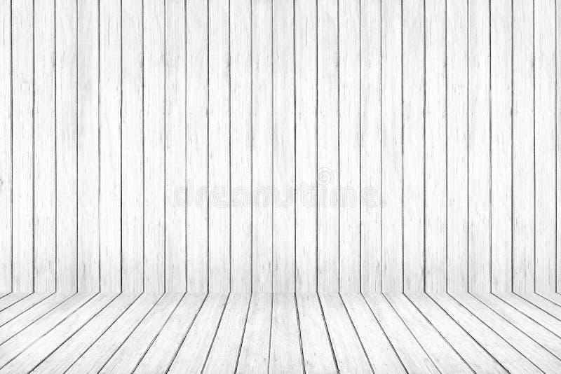 Teste padrão lavado branco da madeira do assoalho e da parede Fundo de madeira da textura fotografia de stock royalty free