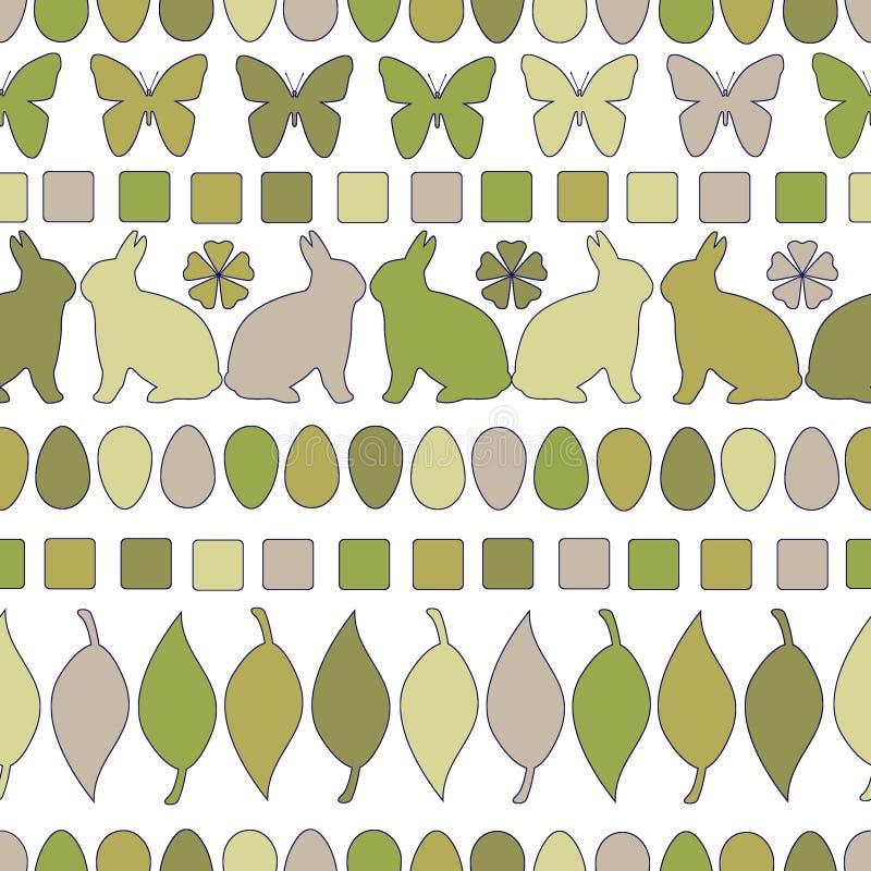 Teste padrão linear da Páscoa monocromática projeto sem emenda de easter para o fundo, a matéria têxtil, e a cópia Teste padrão l ilustração do vetor