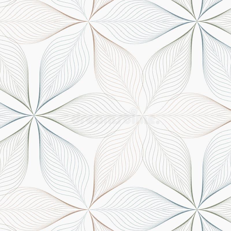 Teste padrão linear do vetor, repetindo o sumário uma folha linear cada um que circunda na forma do hexágono ilustração royalty free