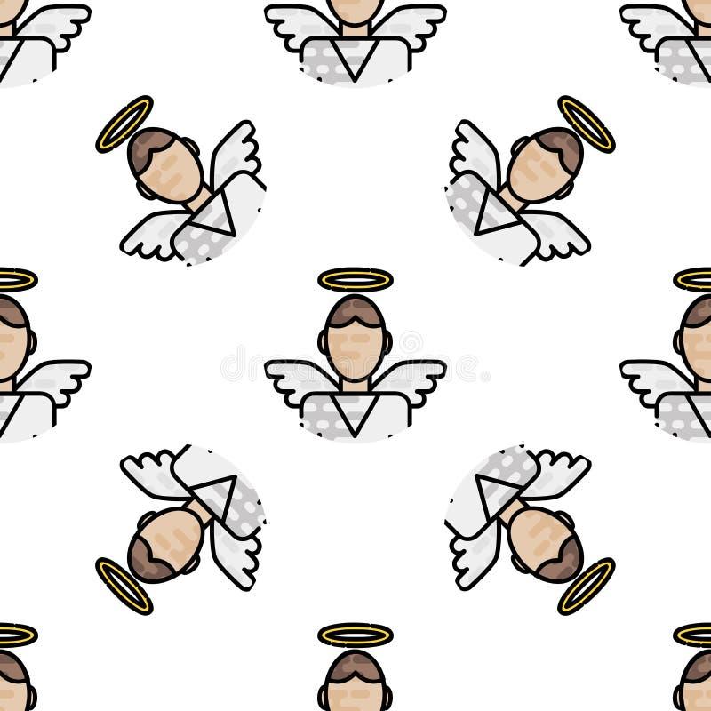 Teste padrão liso da cristandade ilustração do vetor