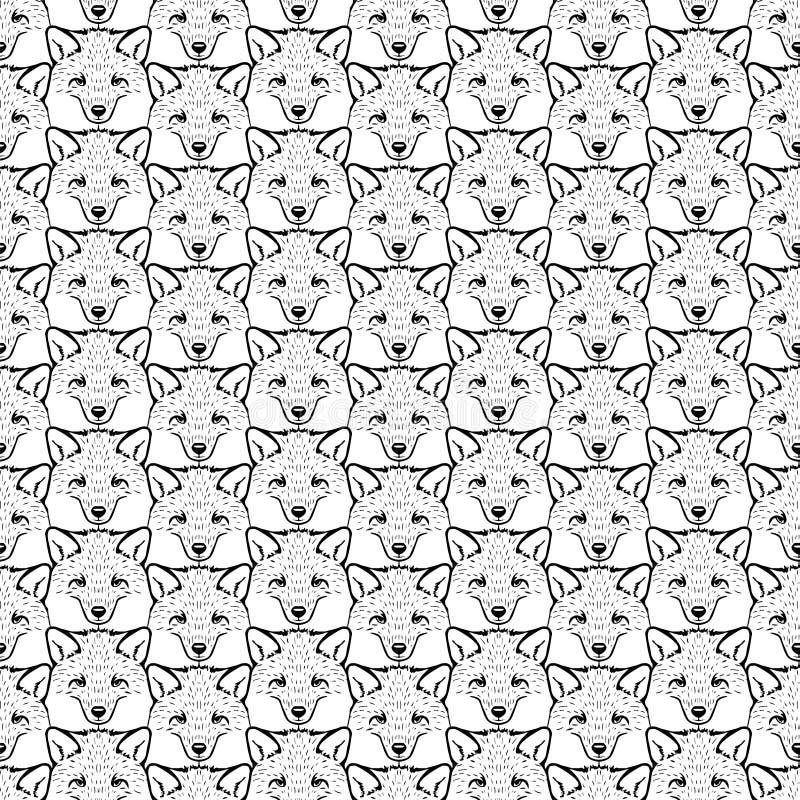 Teste padrão liso sem emenda - raposas Rebecca 36 ilustração stock