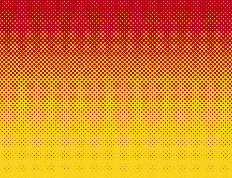 Teste padrão liso vermelho alaranjado do inclinação do estilo da banda desenhada ilustração do vetor