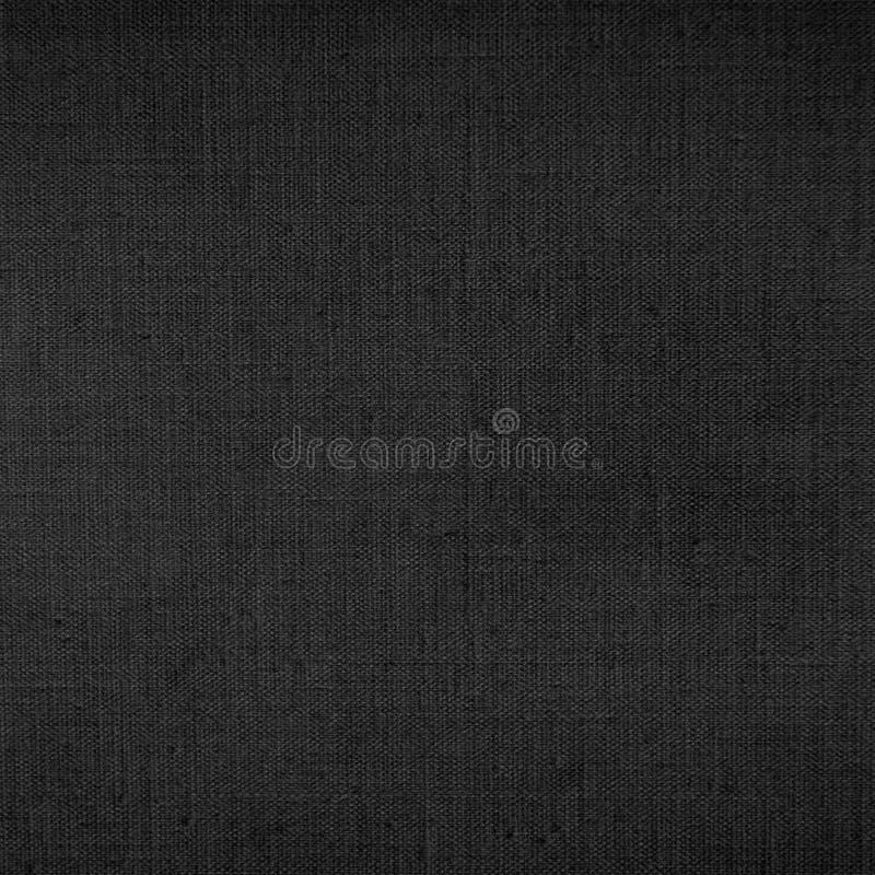 Teste padrão listrado delicado do fundo preto da textura da lona imagem de stock royalty free