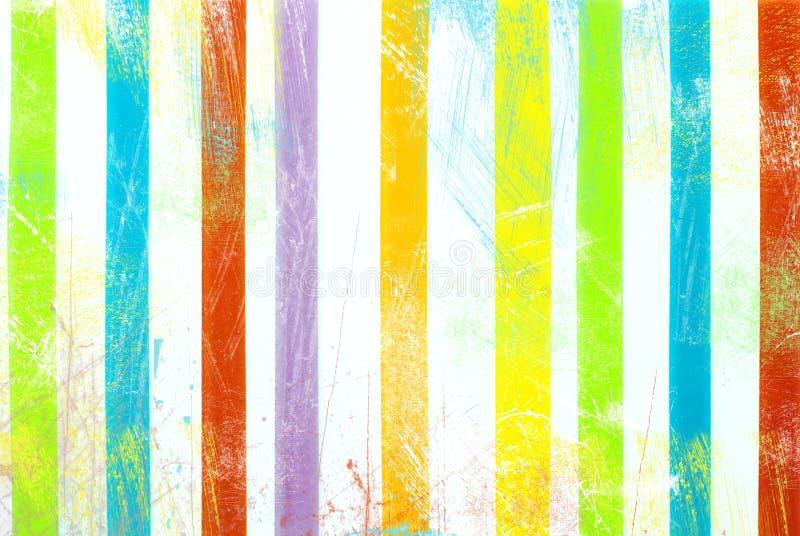Teste padrão listrado - listras coloridas no fundo branco ilustração stock