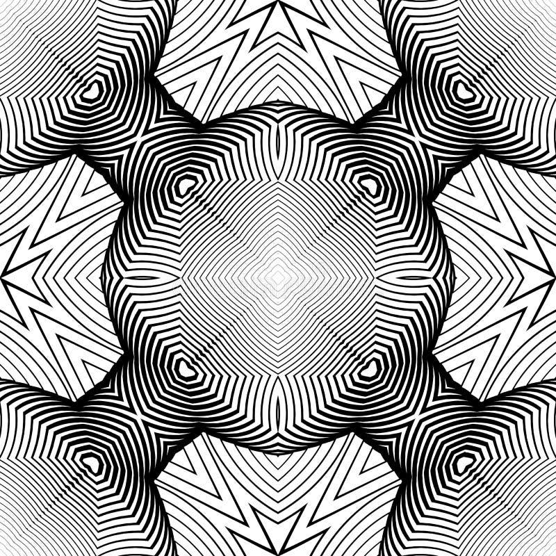 Teste padrão listrado monocromático sem emenda do projeto ilustração stock