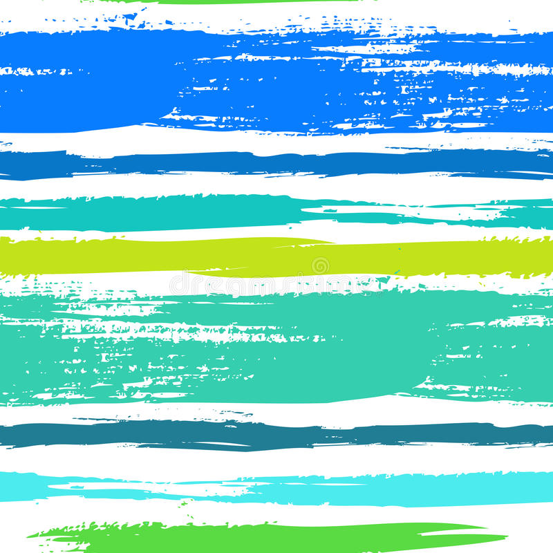 Teste padrão listrado multicolorido com linhas escovadas ilustração do vetor