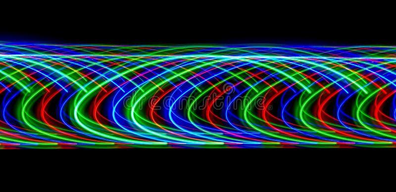 Teste padrão luminoso abstrato na noite imagens de stock