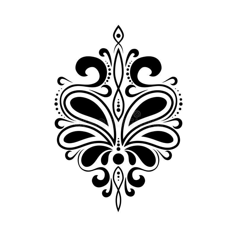 Teste padrão luxuoso bonito com ondas Ornamento para a tela e a decoração Molde ou estêncil ilustração do vetor