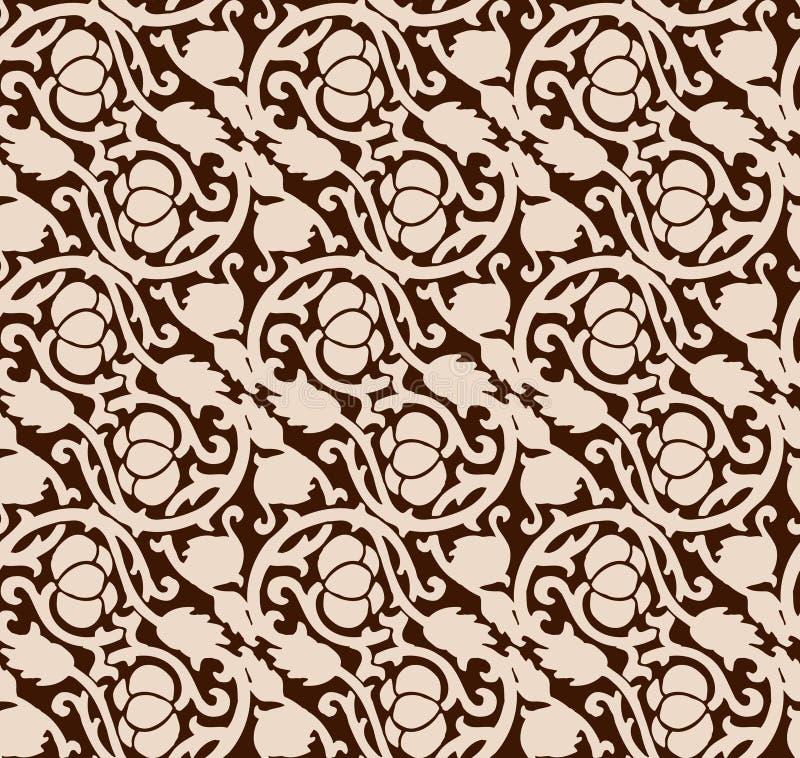 Teste padrão luxuoso sem emenda do chocolate ilustração royalty free
