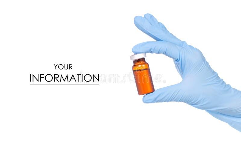 Teste padrão médico disponivel das luvas da ampola médica imagens de stock royalty free