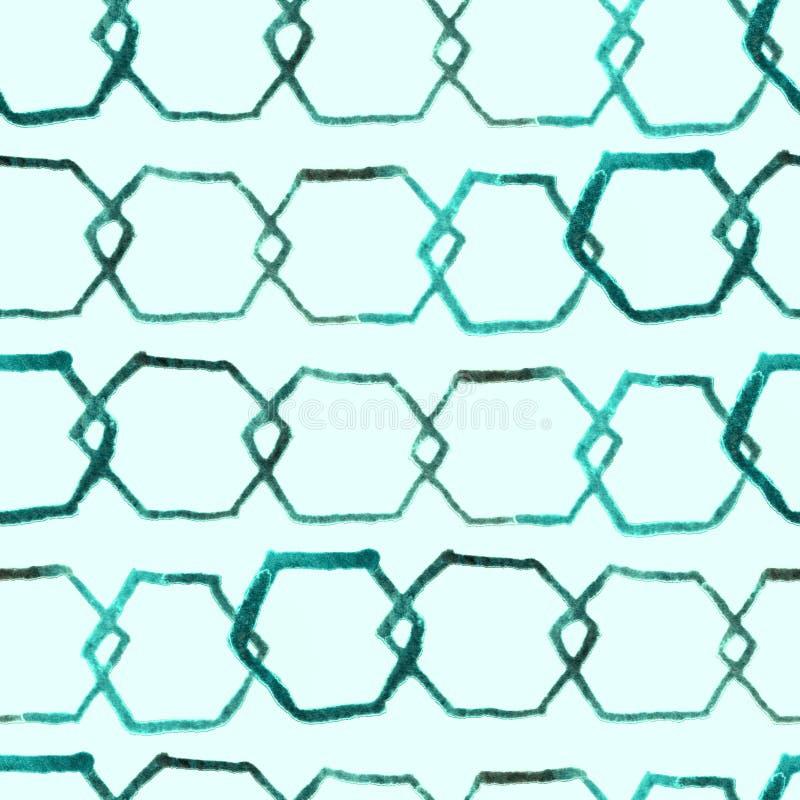 Teste padrão mínimo do hexágono ilustração royalty free
